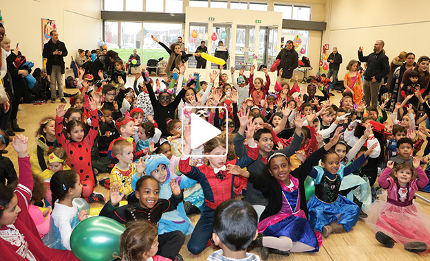 Vidéo Bal masqué des enfants le 17 mars 2018