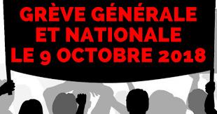 Mouvement de grève nationale mardi 9 octobre