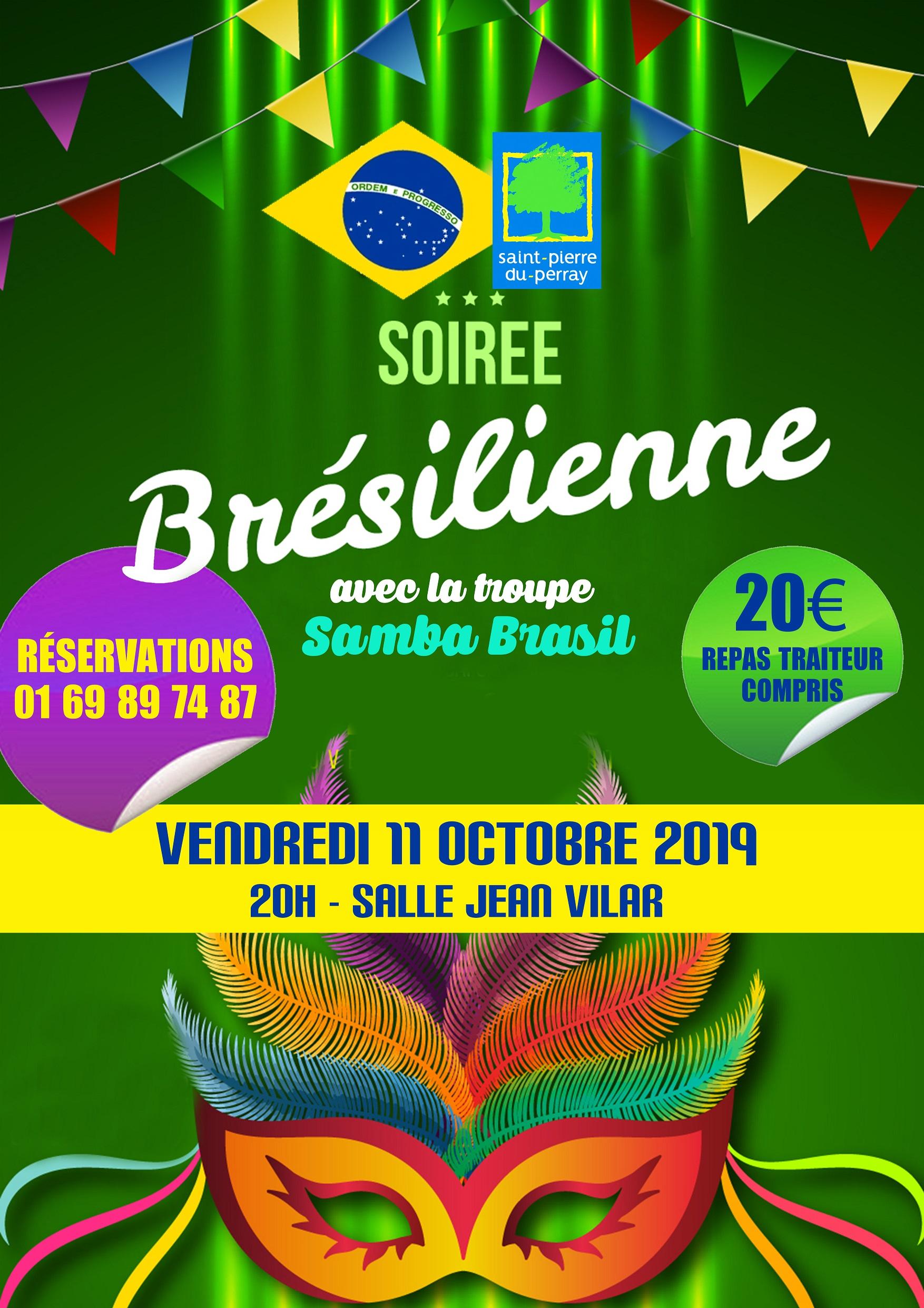 Concert: soirée brésilienne le 11 octobre 2019