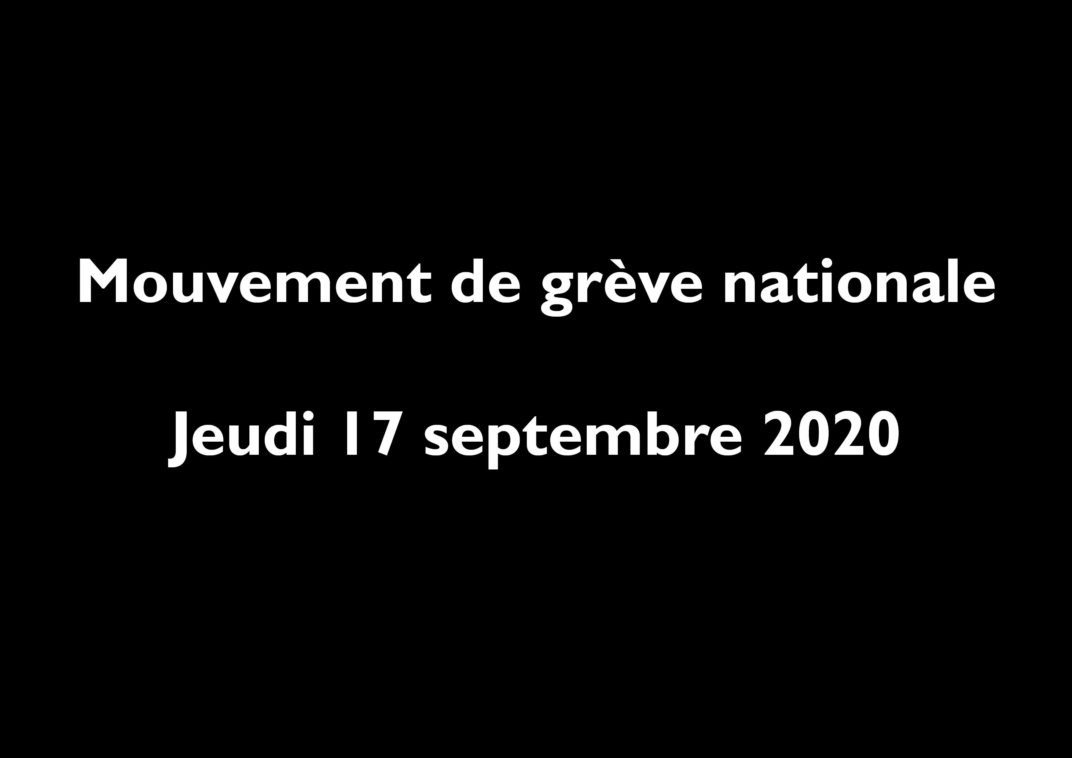 Mouvement de grève nationale