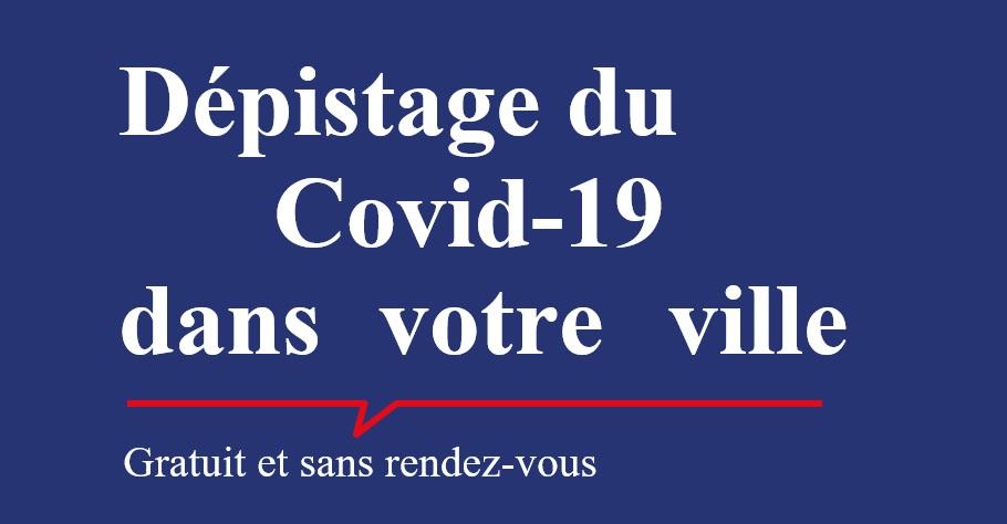 Covid-19: test de dépistage en Mairie samedi 16 janvier 2021