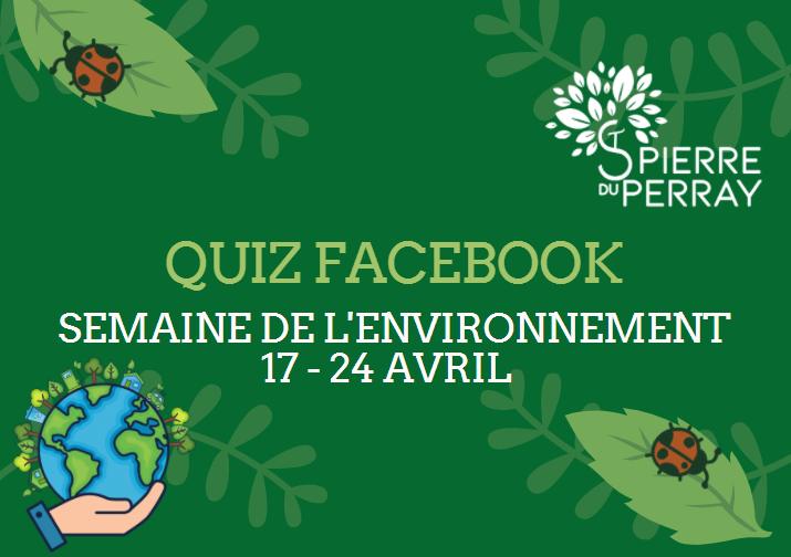Quiz Facebook - Semaine de l'Environnement